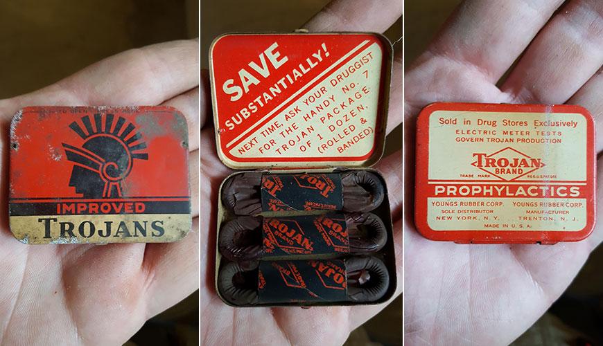 60-летние американские презервативы из подвала