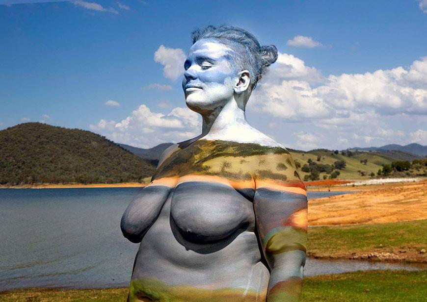 Исчезая в природе: рисунки на теле, бодиарт