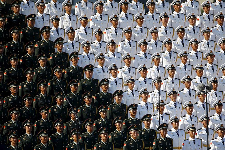 Невероятное китайское искусство громадной толпы