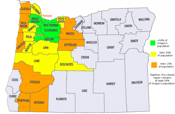 A map I made of Oregons population damnportlanders