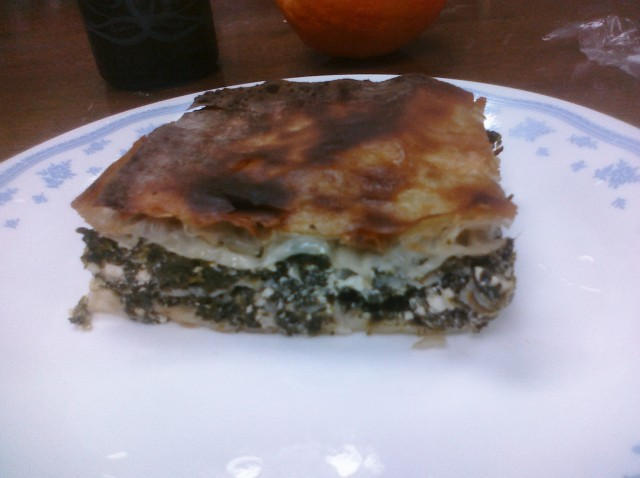 Spinach pie from 3 Little Figs