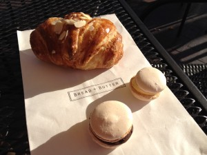 Almond Croissant and Macaroons