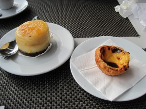Pineapple cheesecake, egg custard tart