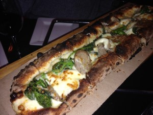 sausage and rabe pizza