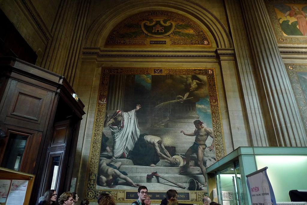 Эта фреска из Пантеона, там мы были вдвоем в наш первый приезд в Париж