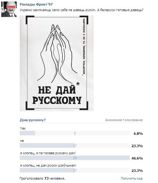 Беларуски русским дадут? Фото