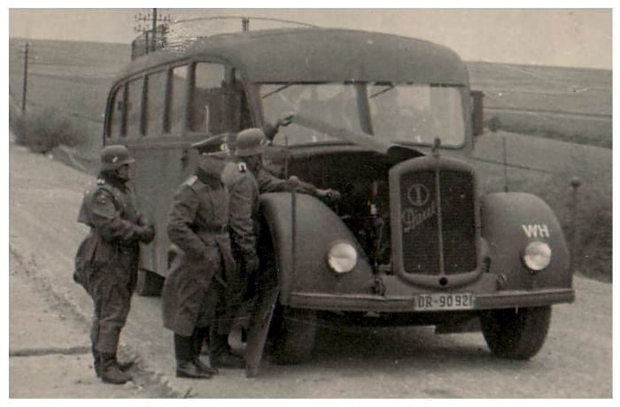 Buses for the Wehrmacht.