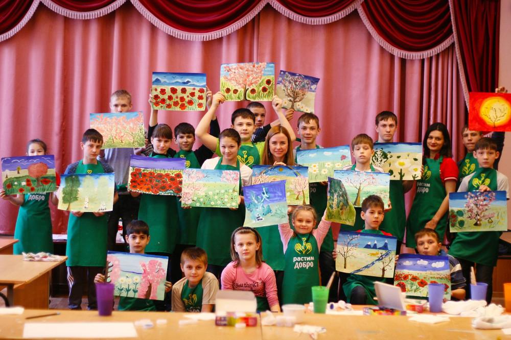 Таганрог_дети после класса интуитивной живописи