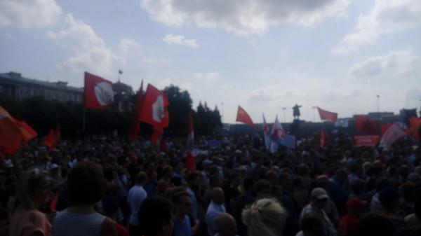 Митинг против пенсионной реформы в Санкт Петербурге