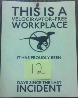 Velociraptor-Free Workplace