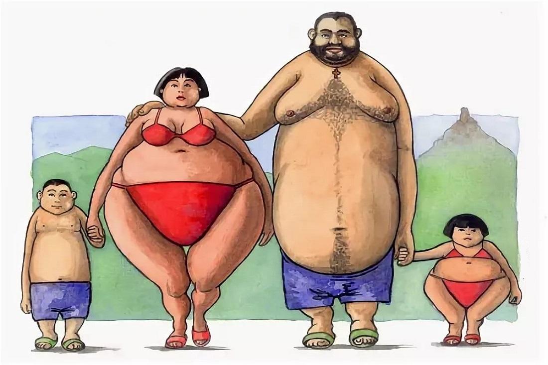 Худой и толстый картинки приколы