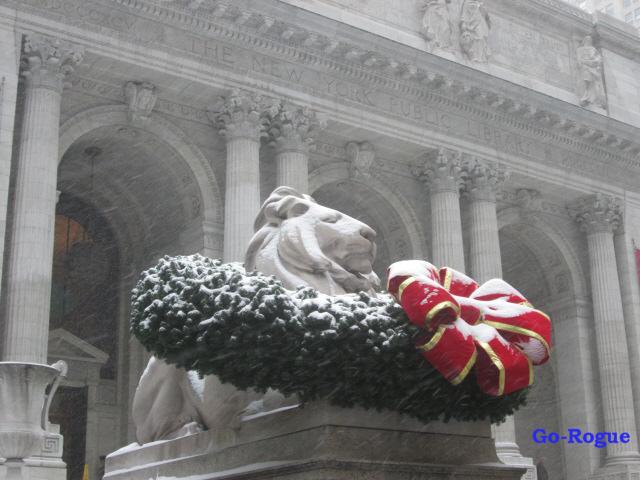 NYPL-ChristmasLion