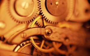 www.GetBg.net_Creative_Wallpaper_Brass_gears_in_the_mechanism_103632_