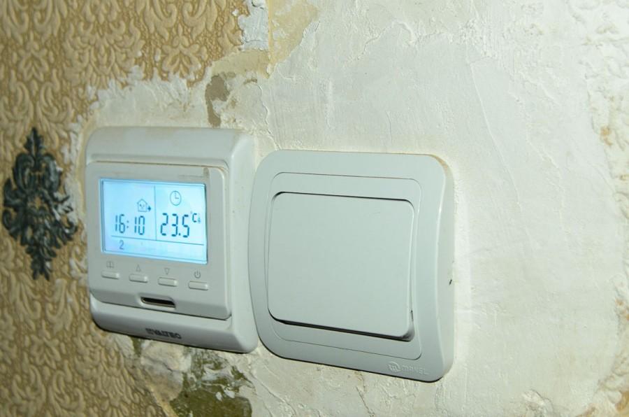 теплый пол и включатель вентилятора