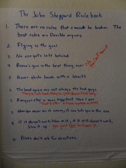The John Sheppard Rule Book