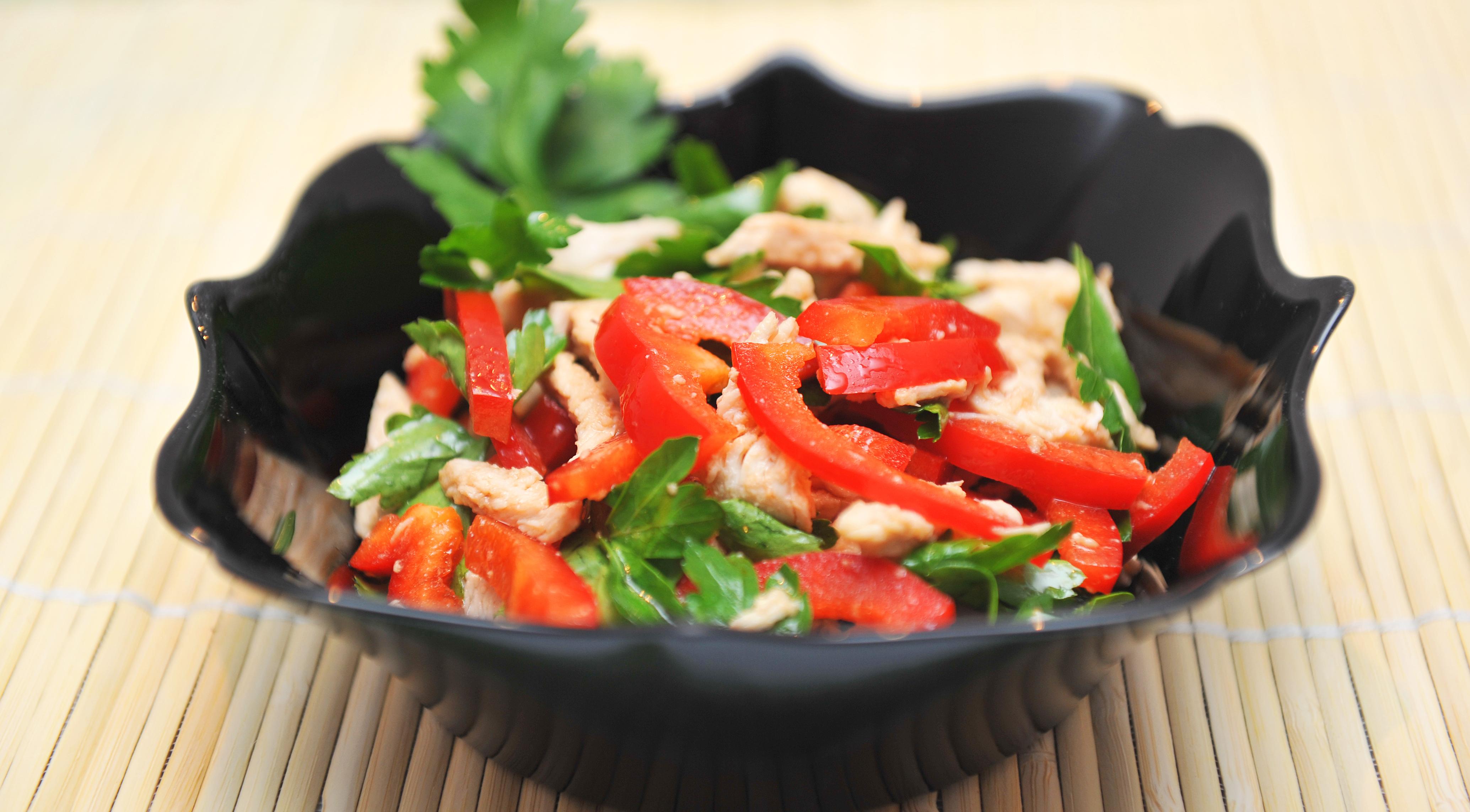 Салат с перцем и мясом рецепт