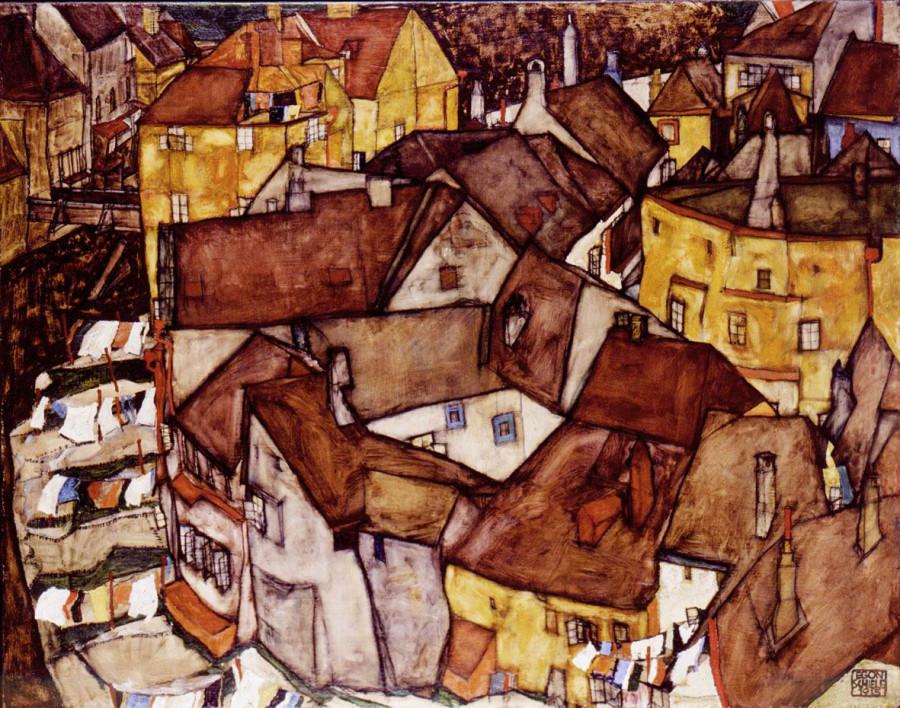 3ad92fd0f2f8dea0a1fc4658178053cd_Egon Schiele, City, 1915, Oil on Canvas