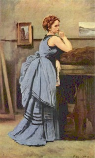 1874 Lady in Blue by Corot