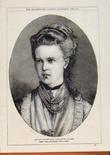 1875 Grand Duchess Maria Alexandrovna