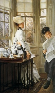 1874 Reading the News by Tissot