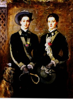 1876 Twins (Grace and Kate Hoare) by Millais