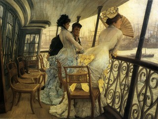 1877 The Gallery of HMS Calcutta by Tissot