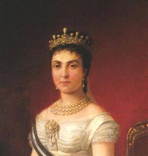 1878 Queen Mercedes detail