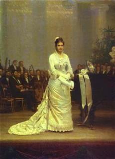 1878 The Singer Elizaveta Lavrovskaya on Stage by Kramskoy