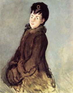 1879 Isabelle Lemonnier with a Muff by Manet
