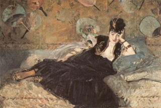 1873 Woman with a Fan (Nina Callias) by Manet