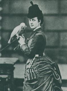 1872 Princess Alexandra with a parrot