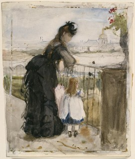 1873 On the Balcony by Morisot