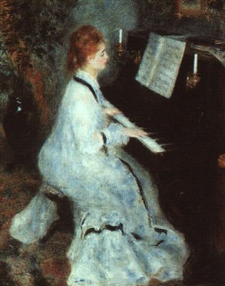 1875 Lady at the Piano by Renoir