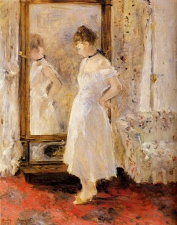 1876 The Cheval Glass by Morisot