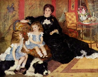 1878 Mme. Charpentier and Her Children by Renoir