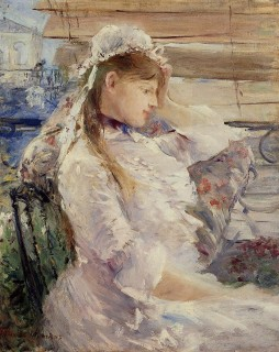 1879 Behind the Blinds by Morisot