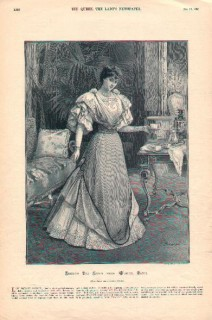 Worth gown illustrated in The Queen 1895