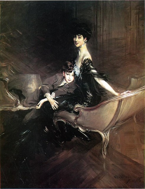 1906 Consuelo, Duchess of Marlborough, with Her Son Ivor Spencer Churchil by Boldini (Metropolitan Museum of Art)