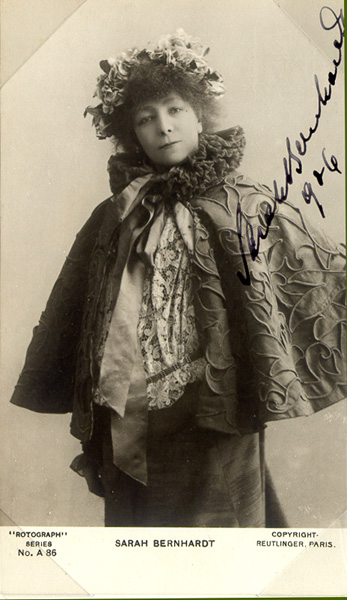 1906 Sarah Bernhardt post card
