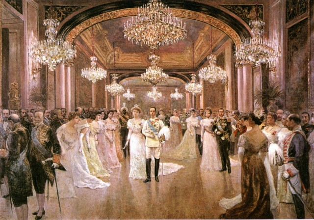 1906 Wedding reception for King Alfonso XIII and Victoria Eugenia