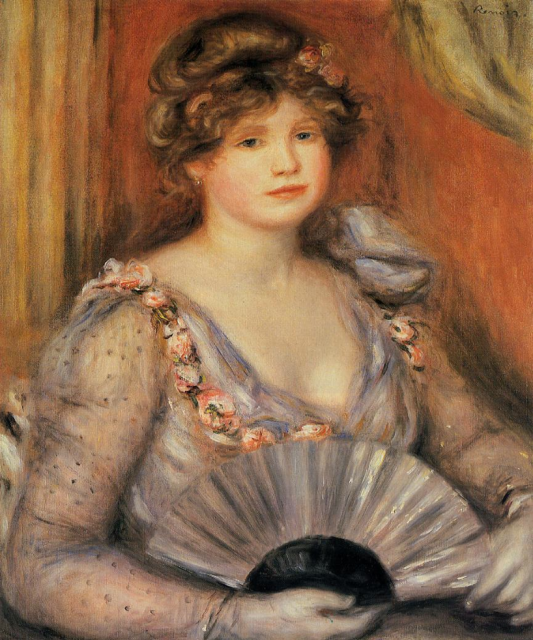 1906 Woman with a Fan by Renoir (private collection) Athenaeum