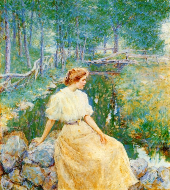 1906ca. Spring by Robert Lewis Reid (private collection) Athenaeum