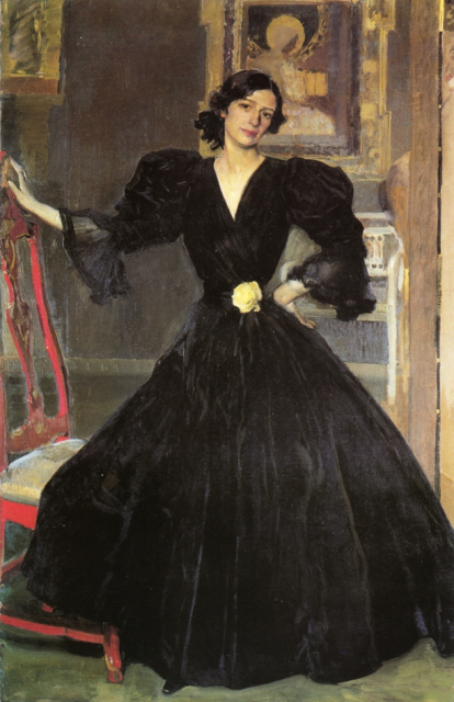 1906 Clotilde in a Black Dress by Joaquin Sorolla y Bastida (Metropolitan Museum of Art) Athenaeum