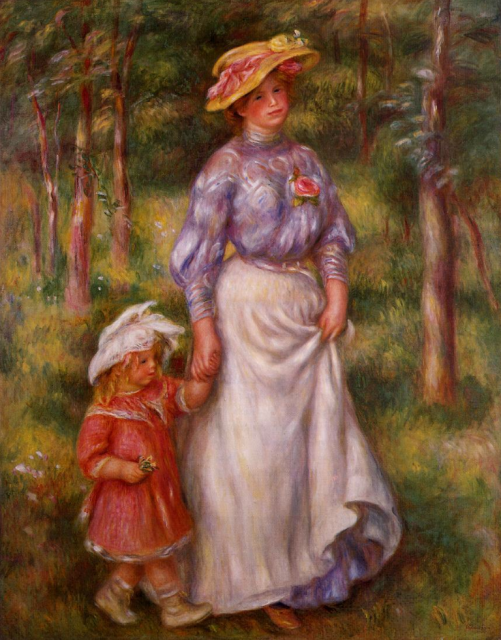 1906ca. The Promenade by Renoir (Barnes Foundation) Athenaeum