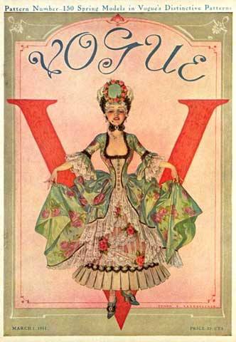 1911 March issue of Vogue by Frank X. Leyendecker