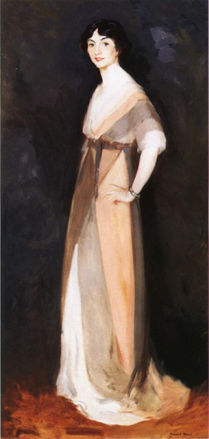 1911 Girl in Rose and Gray - Miss Carmel White - by Henri (private collection) Athenaeum