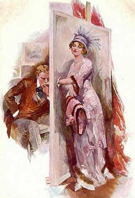 1911 Lily Elsie in a scene from the Lehar operetta