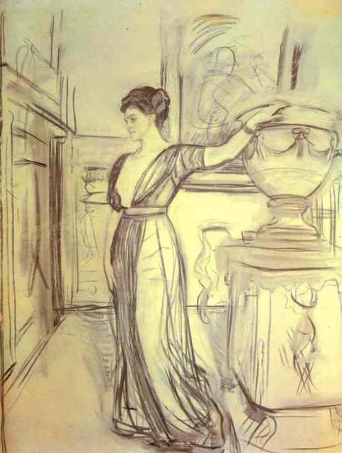 1911 Polina Shcherbatova by Serov (Tretyakov Gallery)