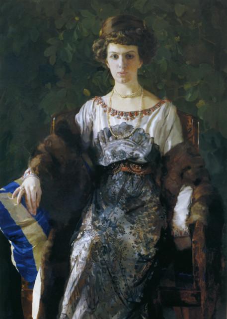 1911 Euthymia Nosova, nee Ryabushinskaya by Konsantin Somov (Tretyakov Gallery)