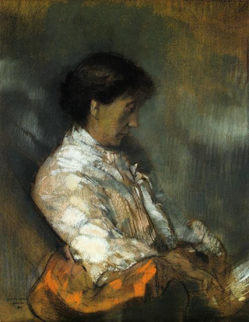1911 Portrait of Madame Redon by Redon (Musee des Beaux-Arts de Bordeaux)